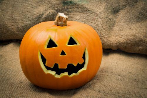 Pumpkin With Halloween Face