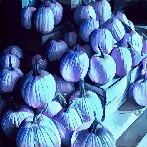 pumpkins blue hallow