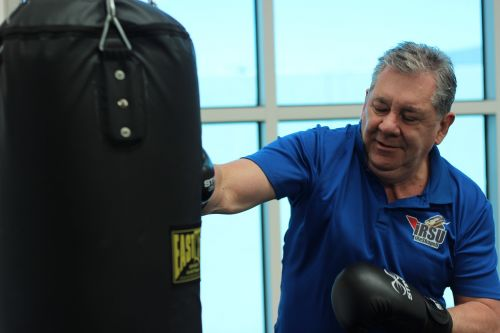 punch boxing old man