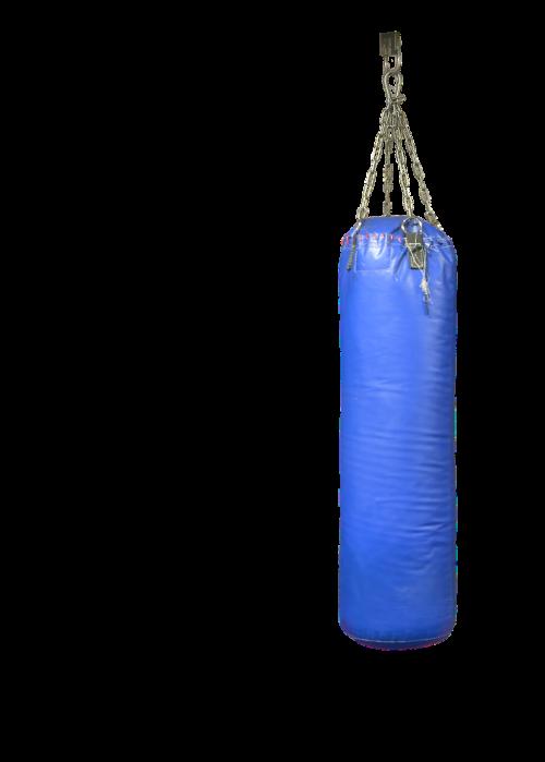 punching bag blue boxing