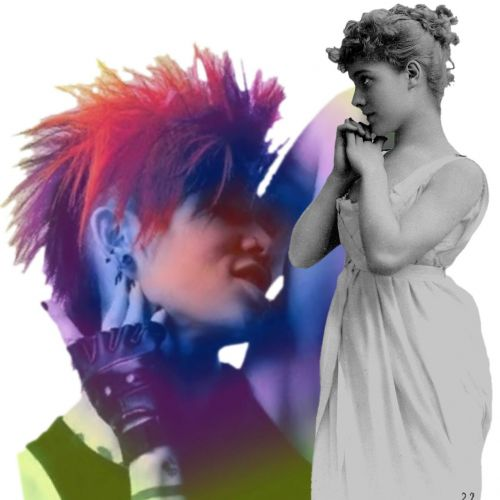 punk vintage lady