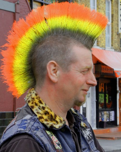 punks colored hair outsider