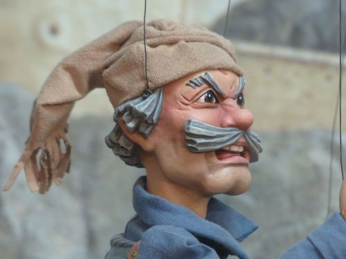 puppet man human