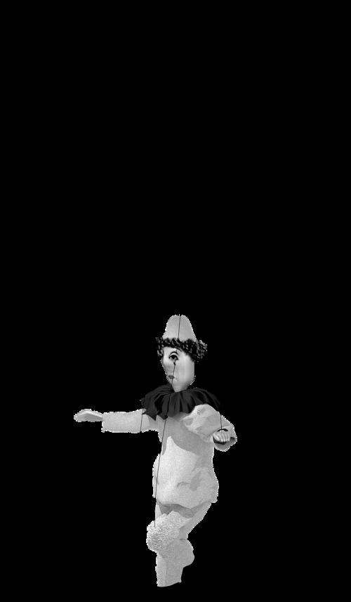 puppet pierrot clown