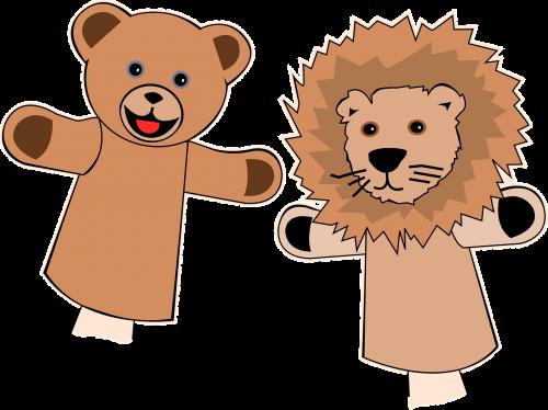 puppets finger bear