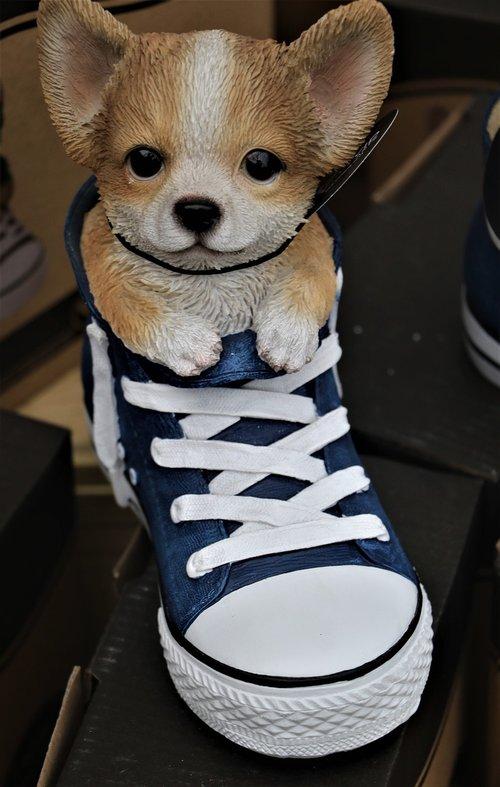 puppy  shoe  ceramic