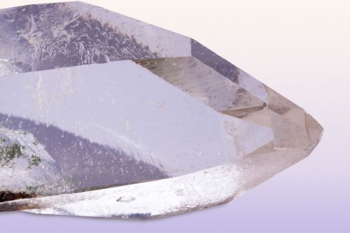 pure quartz rock crystal mineral