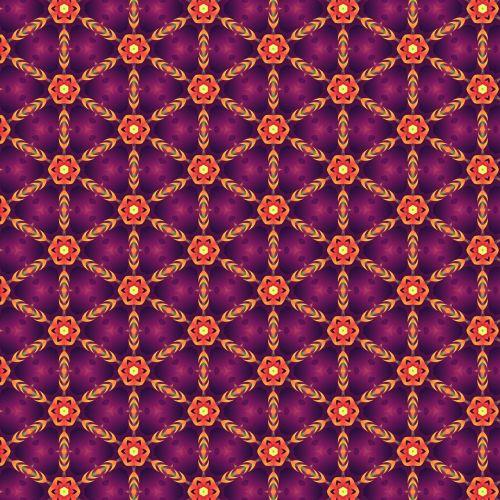 purple orange geometric