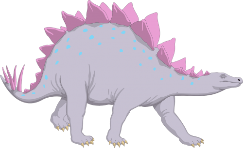 purple dinosaur stegosaurus