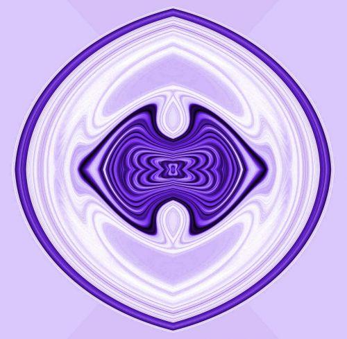 Purple And White Emblem