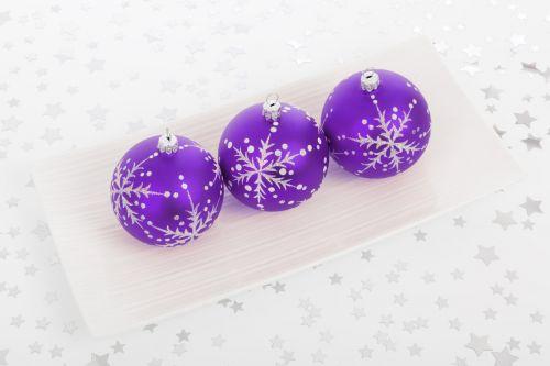Purple Bauble Decorations
