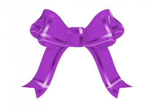 Purple Bow Clipart