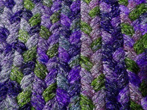 Purple Braided Rug Background