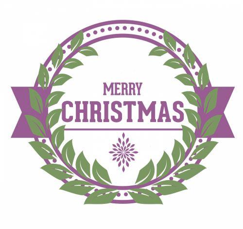 Purple Christmas Greeting