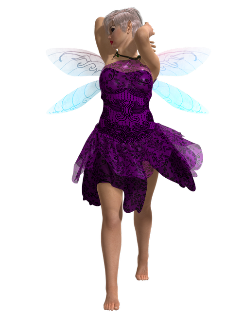 purple fae  woman  pixie