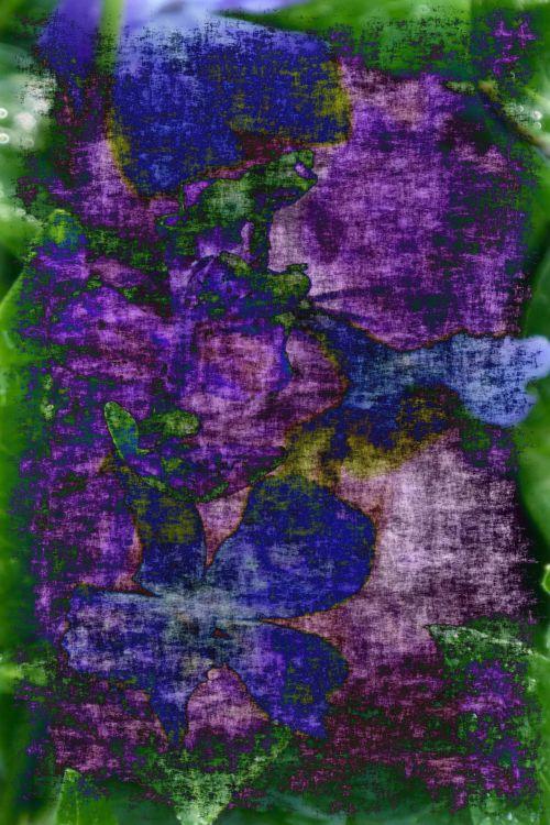 Purple Green Grunge Background