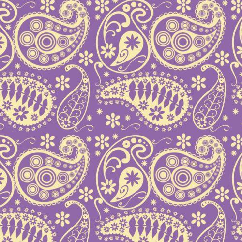 Purple Paisley Pattern Paper