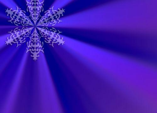Purple Snowflake Sunburst