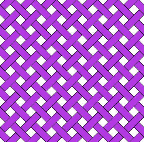 Purple Weave Wicker Pattern