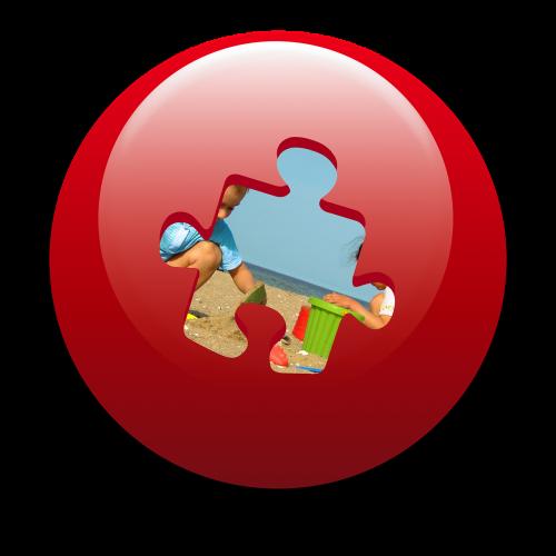 push button jigsaw piece holiday