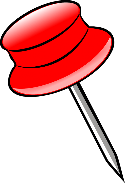 pushpin red pin