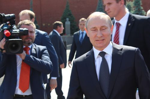 putin the president of the camera
