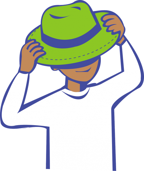putting hat on hat boy