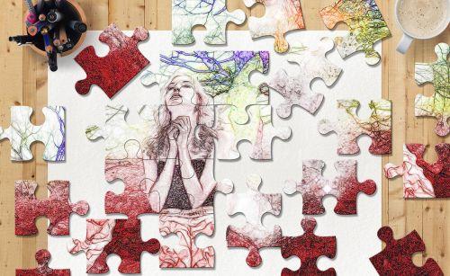 puzzle sketch colors