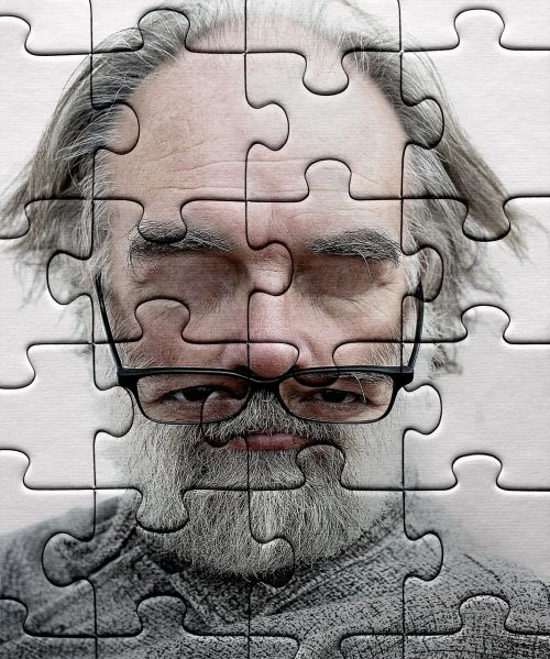 puzzle jigsaw puzzle old man