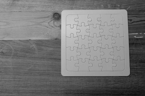 puzzle empty white
