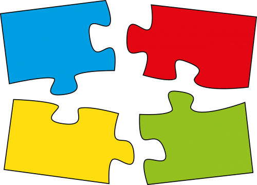 puzzle pieces of the puzzle belonging together