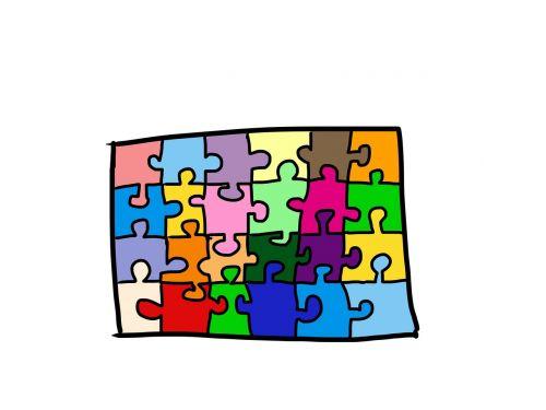 puzzle colorful comic