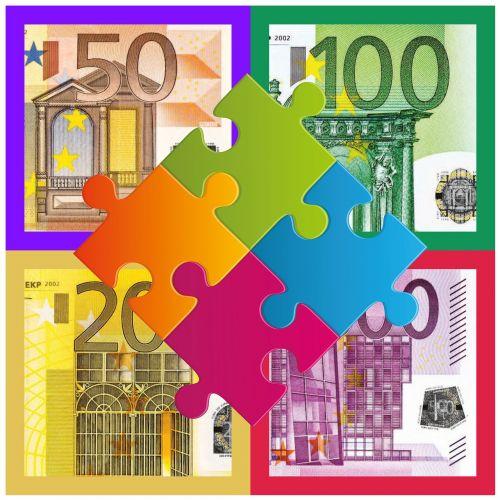 puzzle money euro
