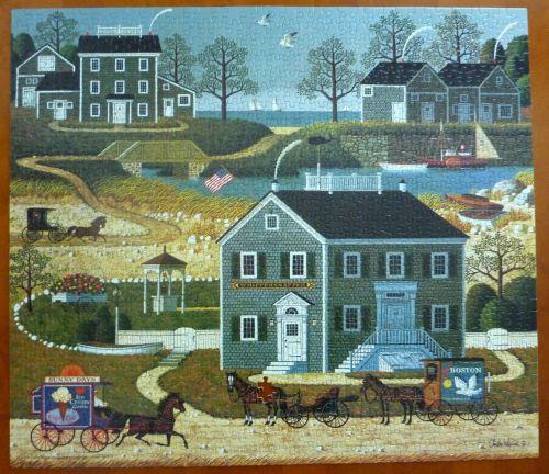 puzzle town village