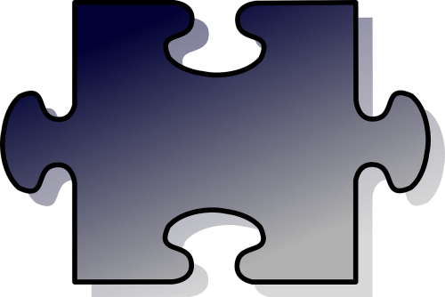 puzzle piece shadow
