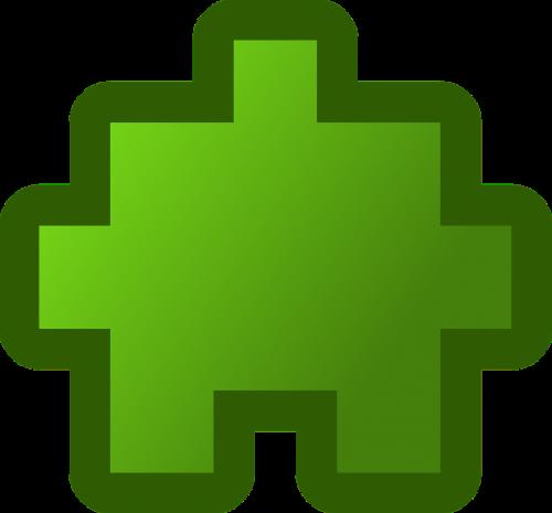 puzzle piece green