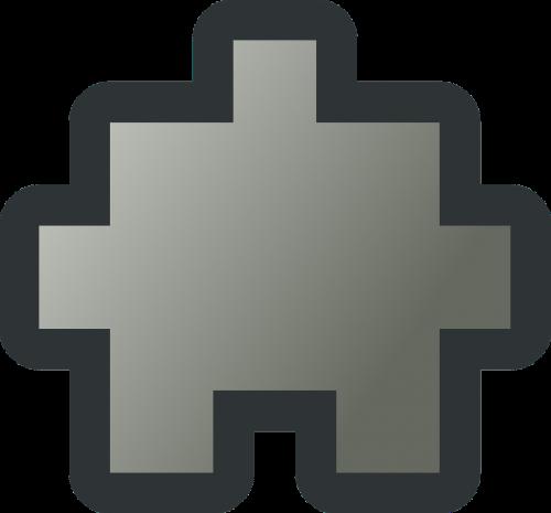 puzzle piece grey