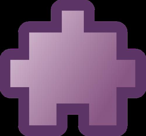puzzle piece purple