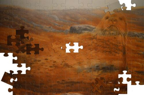 puzzle image painting