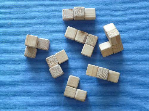 puzzle cube wood block