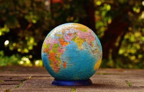 puzzle ball globe puzzle