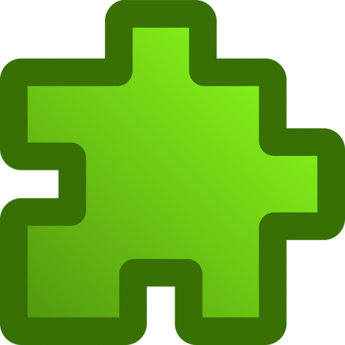 puzzles piece green