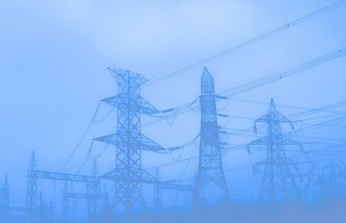 pylons utility poles electricity
