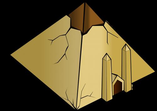 pyramid ruin egyptian