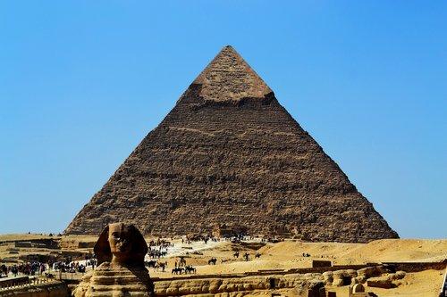 pyramid  sphinx  desert