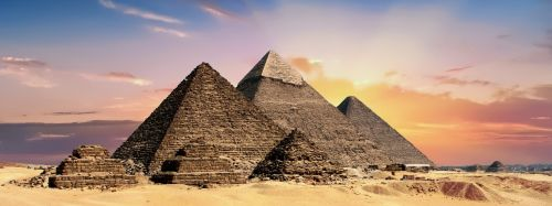 pyramids egypt banner