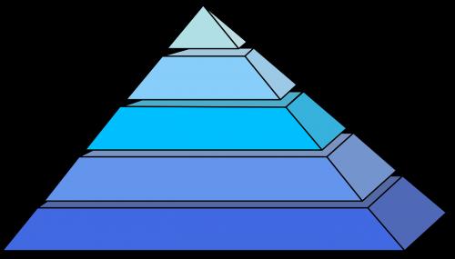 pyramids blue shape