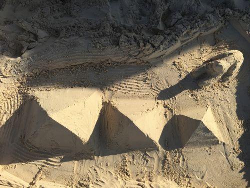 pyramids beach sea
