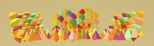 pyramids  triangles  triangular