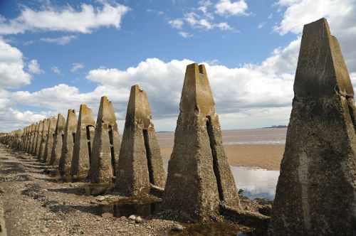 pyramids stones sea